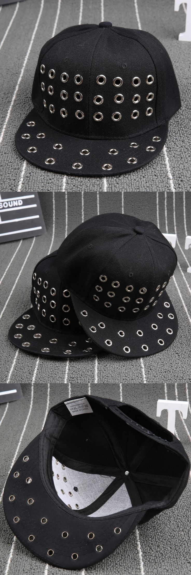 Cool Sold Black Kids Baseball Caps Alternative rivets Hip hop Cap Snapback Hats Boys Girls Peaked cap Parent-child caps