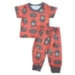 Happy bear design baby pajamas.... get them now at   http://gardeningbear.com/wp/shop/infant-pajama-sets-for-boys/