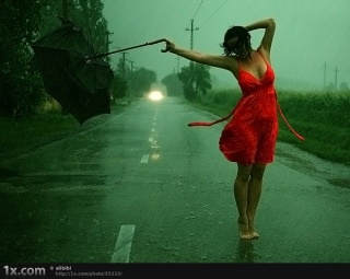 I used to dance in the rain all the time...