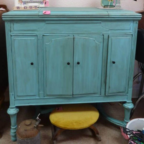 shabby chic furniture colors. 1927 victrola record player cabinet with speakers designed in our signature turquoise shabby chic color furniture colors