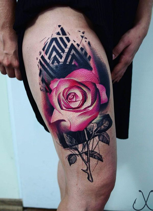 491 best images about tattoo ideas on pinterest compass for Meaningful thigh tattoos