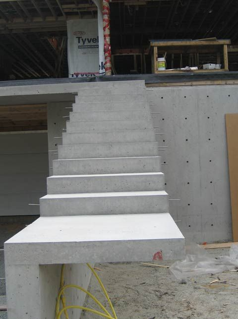 Cantilevered Concrete Stair Architectural Concrete Close