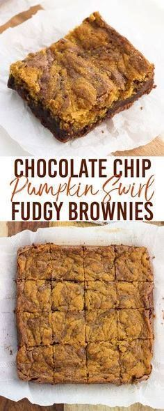Fudgy chocolate chip Fudgy chocolate chip pumpkin swirl brownies...  Fudgy chocolate chip Fudgy chocolate chip pumpkin swirl brownies combine the best of both worlds in one dessert. Fudgy brownie batter is swirled with a perfectly spiced pumpkin mixture in this great fall dessert. A delicious way to use up a little bit of leftover pumpkin puree! Recipe : http://ift.tt/1hGiZgA And @ItsNutella  http://ift.tt/2v8iUYW