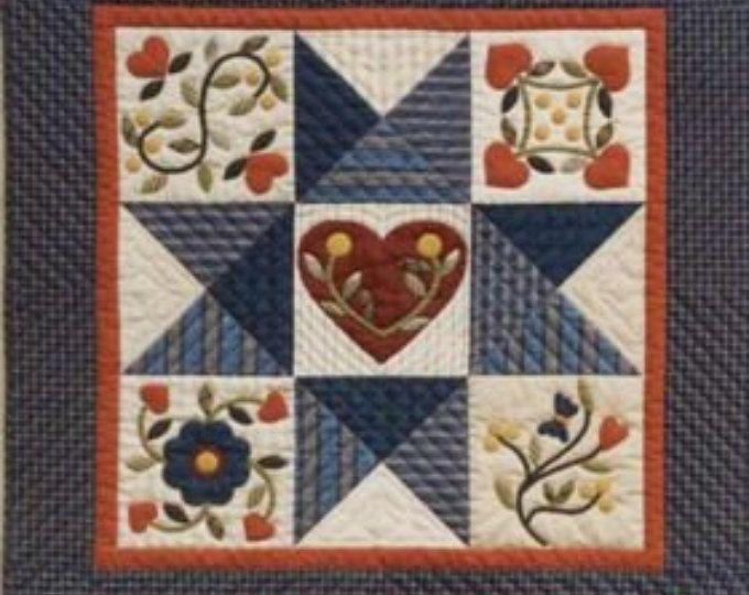 Quilt pattern block quilt pattern applique quilt pattern heart