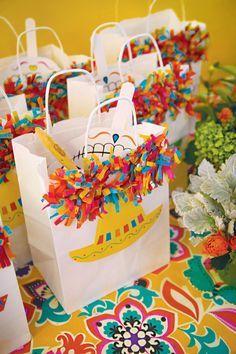 Bolsas personalizadas para fiesta temática mexicana. #FiestaMexicana