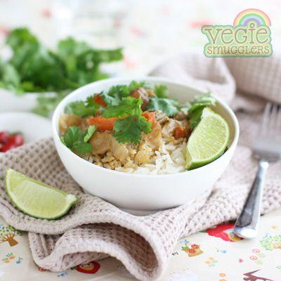 Veggie Smugglers slow cooker Satay Chicken.