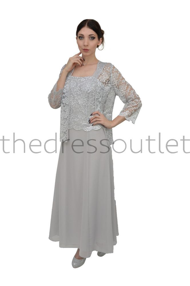 Classic Mother of Bride Groom Long Formal Gown Plus Size Wedding Event Dress #TheDressOutlet #Formal