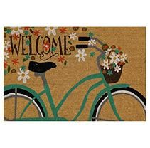 Mohawk Home Summer Coir Mats, Welcome Bicycle