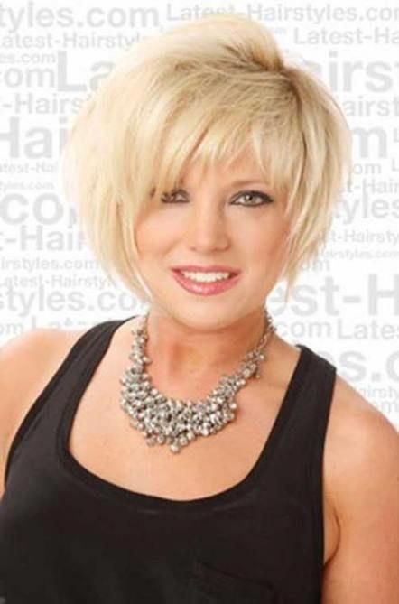 35+ Ideas hair short styles over 50 layered bobs round faces #hair #layeredbobforthinhair