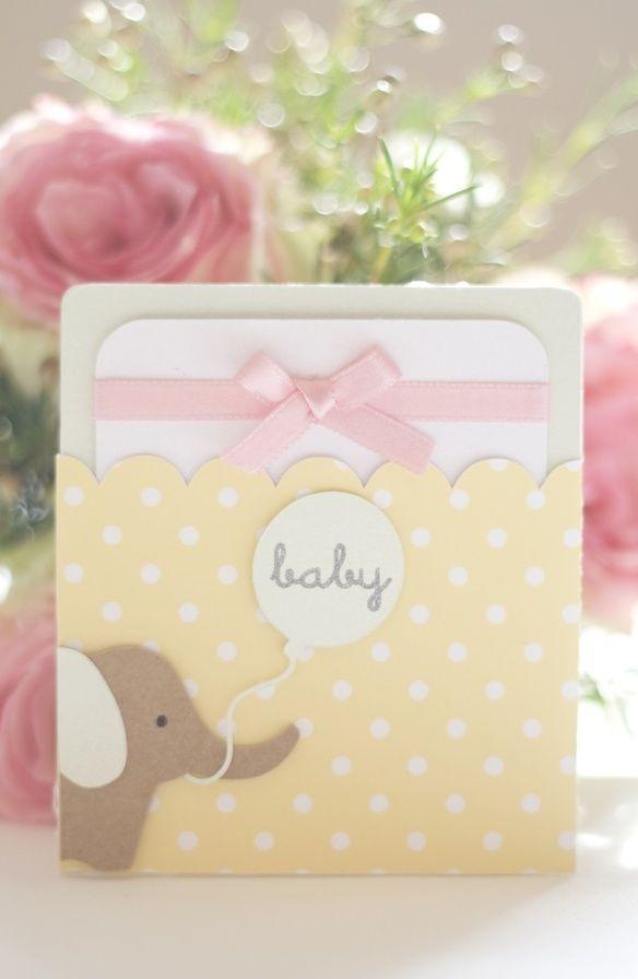 baby shower pocket card
