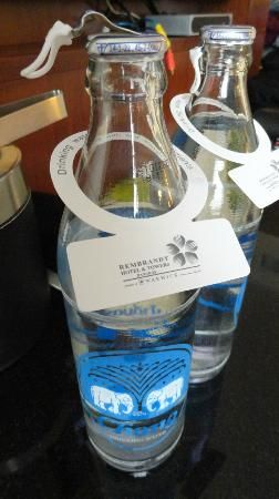 complimentary bottles of drinking water