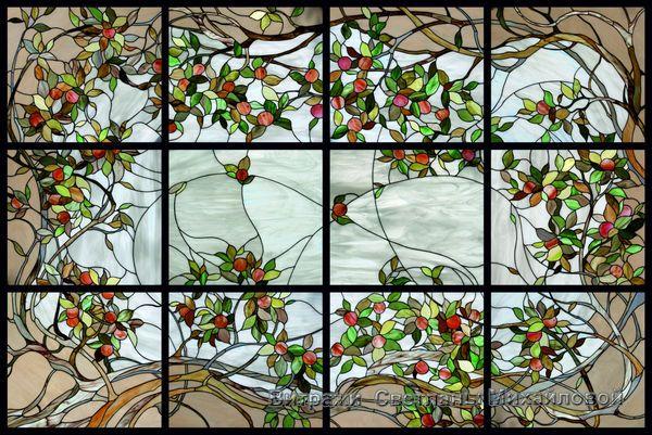 Витраж flora-017