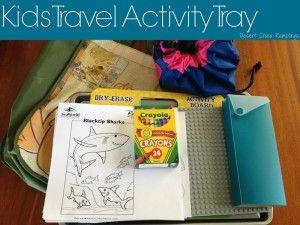 Kids Travel Activity Tray {Travel Tuesday}