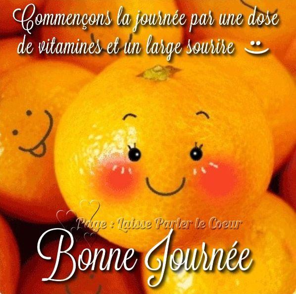 Commençons la journée par une dose de vitamines et un large sourire :) Bonne Journée