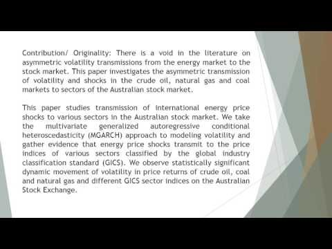 Transmission of International Energy Price Shocks to Australian Stock Ma...