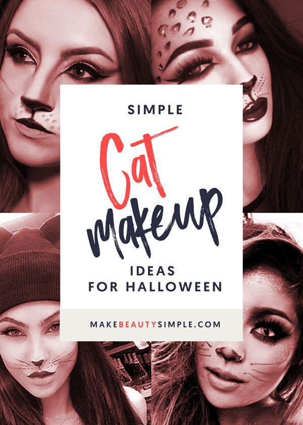 Looking for some Halloween inspiration? We've got some simple cat makeup ideas for you | makebeautysimple.com @Cath_Millen