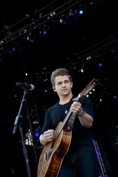 Singer/songwriter Hunter Hayes rehearses onstage during ACM Presents Superstar Duets at Globe Life Park in Arlington on April 18 2015 in Arlington...