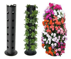 Flower Tower...Kinda neat!: Green Thumb, Gardening Idea, Round Pvc, Lowes Sells, Gardening Outdoor, Pvc Pipes, Flower Tower