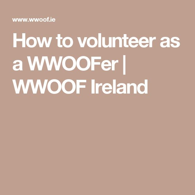 How to volunteer as a WWOOFer   WWOOF Ireland