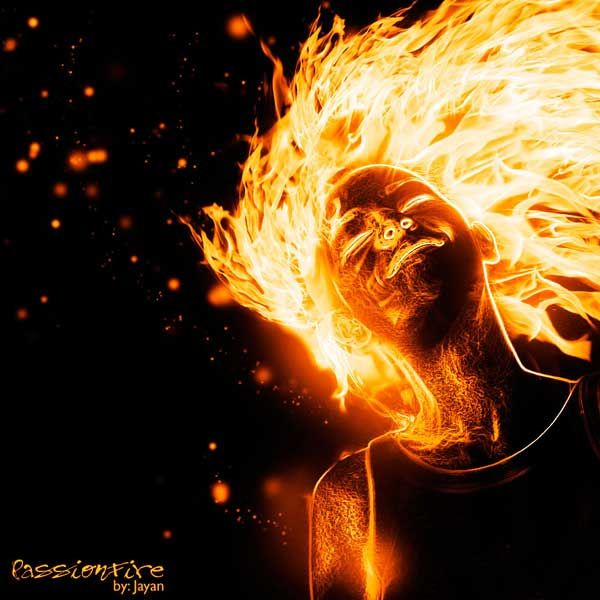 photoshop flaming person tutorial