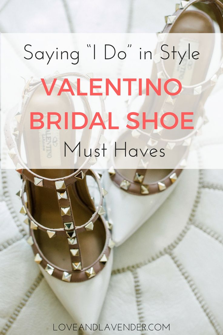 Valentino Bridal Shoes: Vows in Rockstud Style https://www.loveandlavender.com/2018/01/valentino-bridal-shoes/