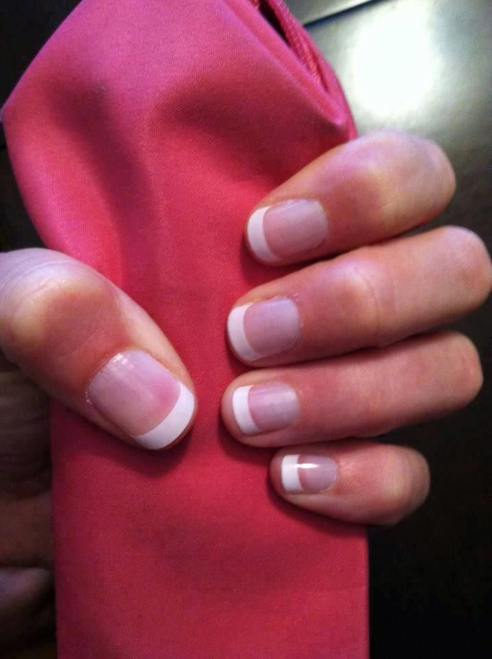 Jamberry french tips on short nails