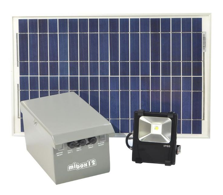 SOLAR FLOOD LIGHT SYSTEM 680 LUMENS