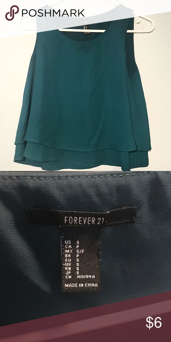 Forever 21 Teal Blouse Well-loved but in good condition. Size small. Great for both professional and casual outfits. Forever 21 Tops Blouses