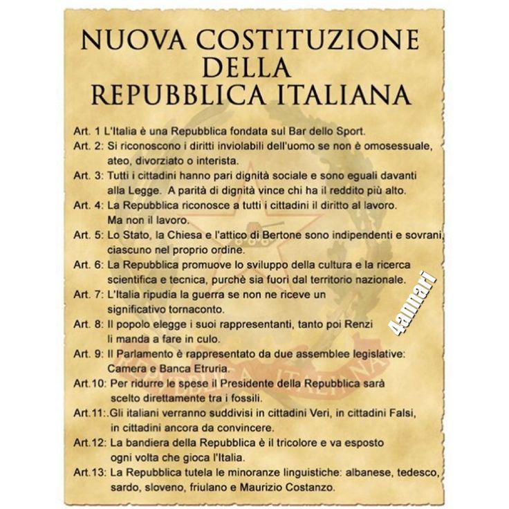 Votiamo NO alla variazione della Costituzione fatta da Renzi e dai suoi compari ladroni.