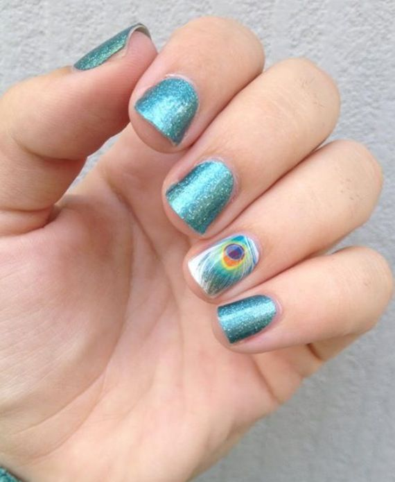 Jaded & Shake Your Tail Feather. jamberry Nail Wraps. http://ShannonHowell.jamberrynails.net/