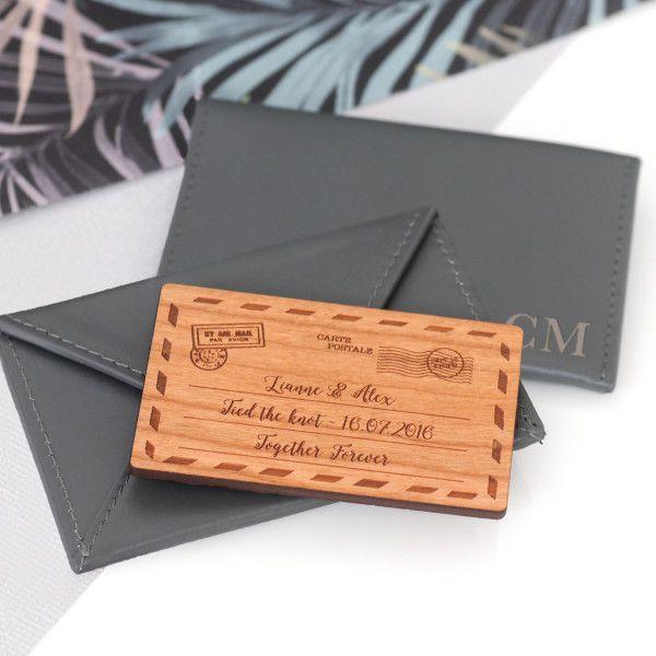 Personalised Leather Envelope Cardholder