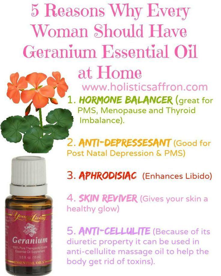 Geranium essential oils is great for women!