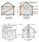 12x14 shed plans gable