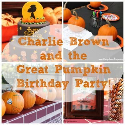 Charlie Brown and the Great Pumpkin Birthday Party Ideas