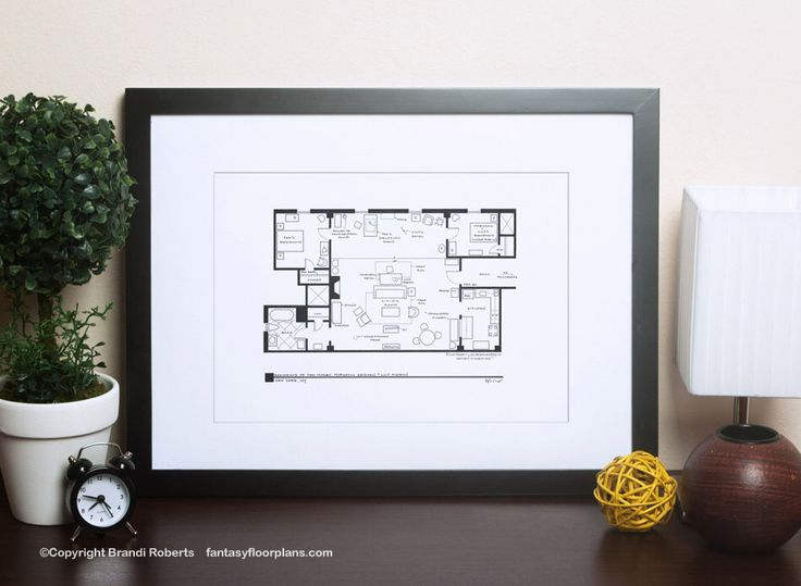How I Met Your Mother Apartment - Famous TV Show Floor Plan - Blackline Poster Art for Residence of Ted Mosby - Great gift! by TVfloorplans on Etsy https://www.etsy.com/listing/191272818/how-i-met-your-mother-apartment-famous