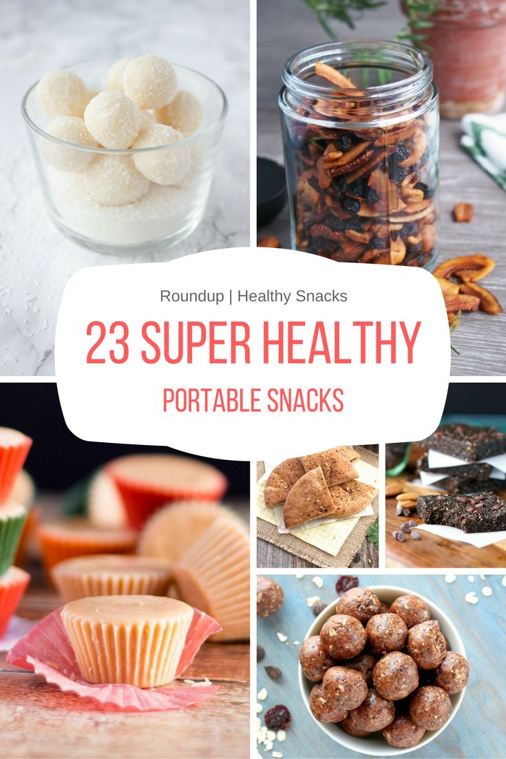 Prep, pack and enjoy these 23 super healthy portable snacks wherever you go - beach, picnic, road trip or in the park with your kiddos.