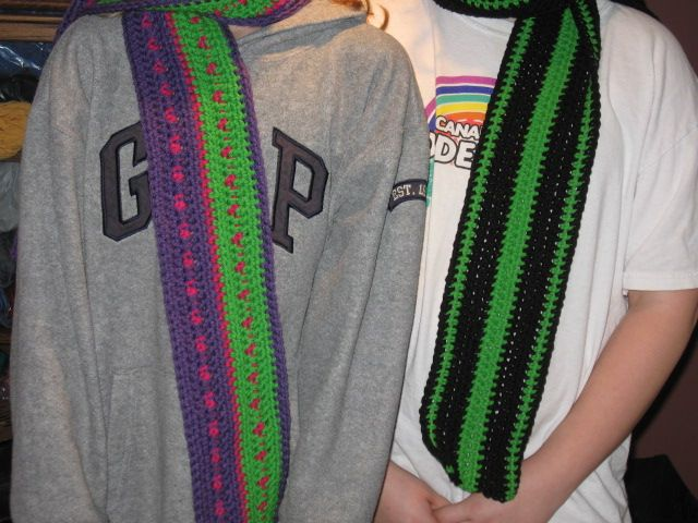 Scarves for Haylee and Landon