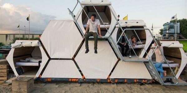 B-and-Bee: la tenda ad alveare per andare ai festival o in campeggio con gli amici