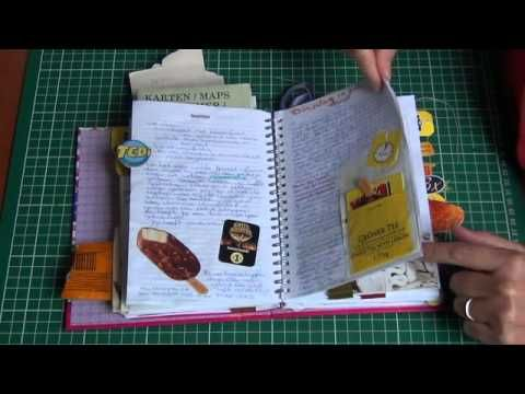 recycled planner in to a vacation travel smashbook diy journal 2012 #planner #recycledplanner #recycle #traveljournal #junkjournal #junkmail