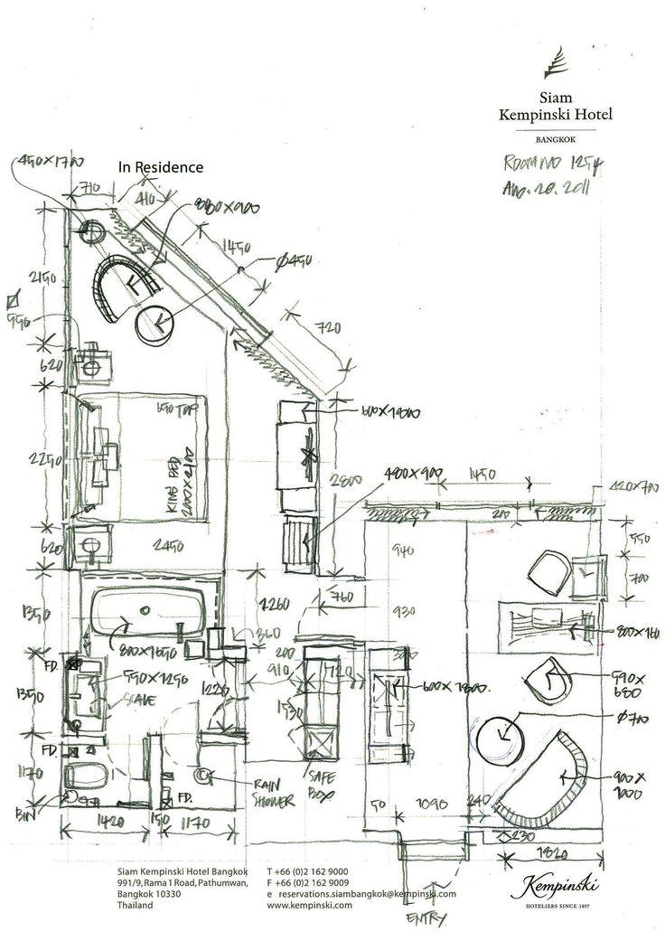 Hotel Room Floor Plan: 118 Best Images About Hotel Room Plans On Pinterest