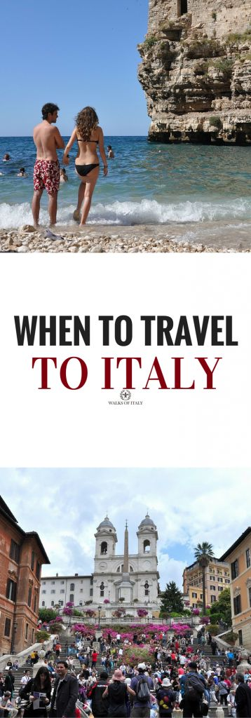 """Wether going to a sunny beach or the Spanish Steps, everyone wants to know """"when should I travel to italy?"""" Find out the best times to travel."""