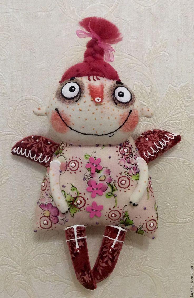 Купить Новогодние ангелочки. - комбинированный, ангел, ангелочек, авторская кукла, новогодний подарок, подарок на рождество