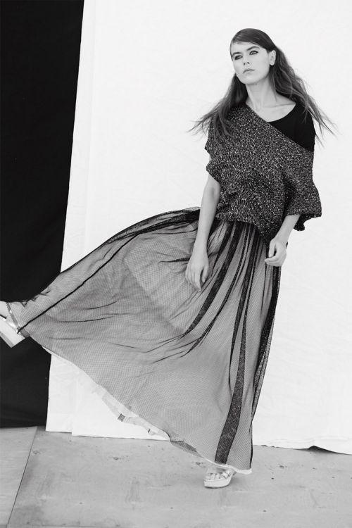Купить ЮБКА СЕТКА НА РЕЗИНКЕ без подкладки из коллекции «Resort 2016» от Lesel (Лесель) российский дизайнер одежды