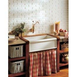 EVier Timbre d'office 1 bac en grès/ Kitchen farmerhouse single sink in fireclay