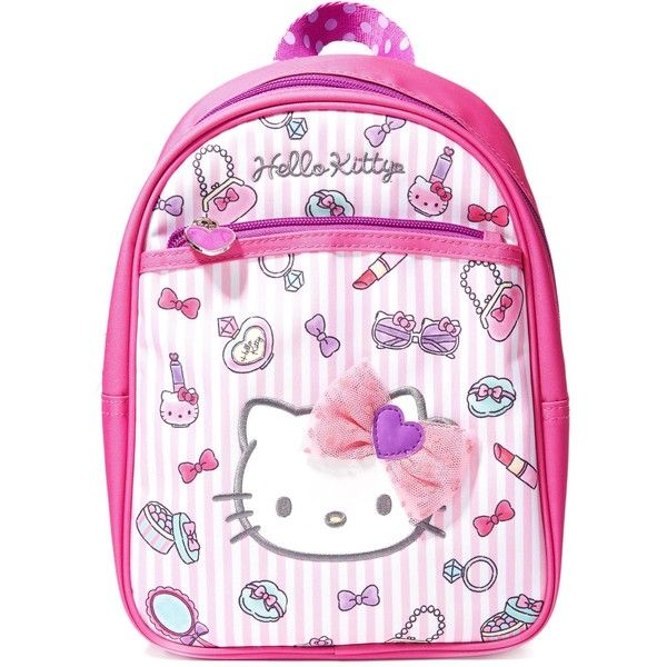Sanrio Royal Petite Backpack (26 CAD) ❤ liked on Polyvore featuring bags, backpacks, vinyl backpack, pink mini backpack, hello kitty backpack, hello kitty pink bag and backpack bags