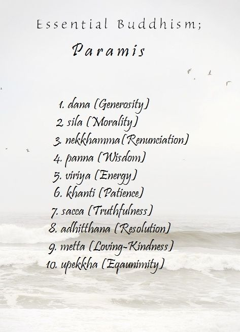 The Ten Paramis, or in common terms- the Ten Perfections.