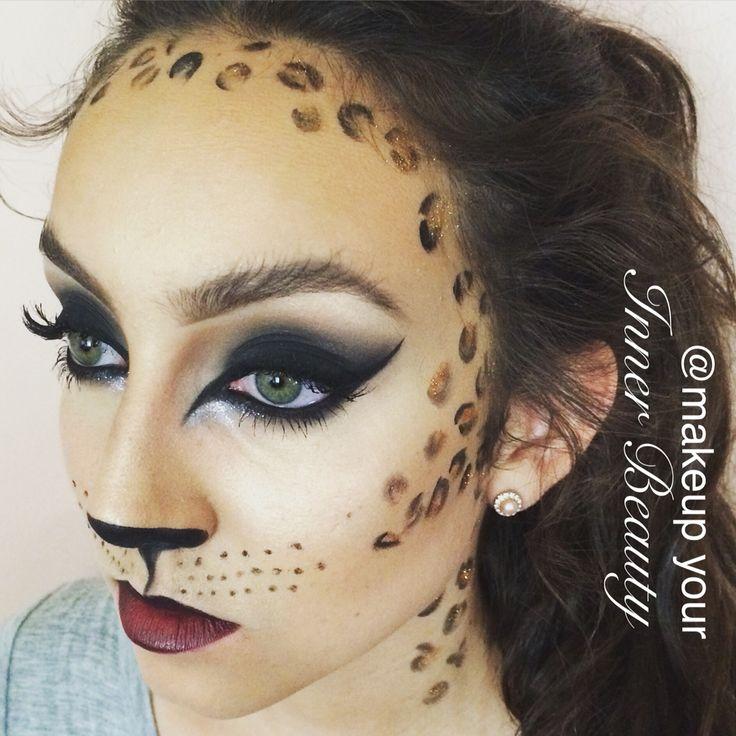 leopard glamour makeup for halloween makeup for teens