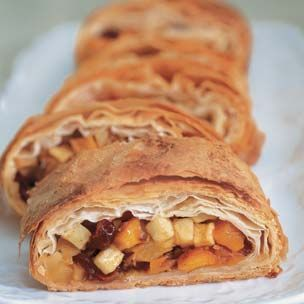 Warm apple strudel makes a fantastic dessert. One can even add a bit of ice cream!- Phyllo (or filo) dough, best known for its use in Greek and Turkish pastries like baklava, is sold in the freezer section of large grocery stores.