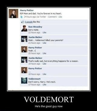 Harry Potter's Facebook conversation