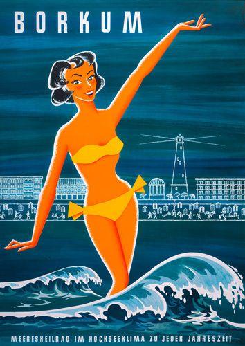 GERMANY - Borkum Resort, 1955 Art Print